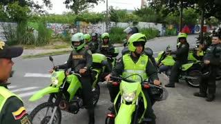 Protesta de taxistas en Bucaramanga