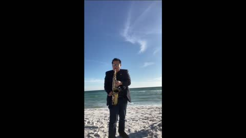 Beach sax Mix two performance