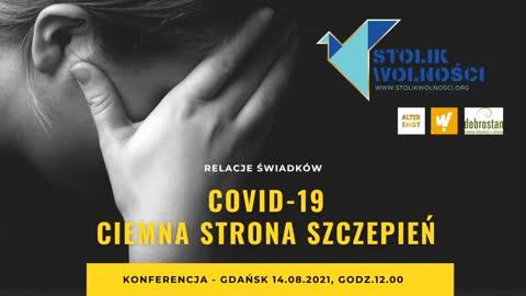 Konferencja Covid-19 - ciemna strona szczepień. Relacje świadków