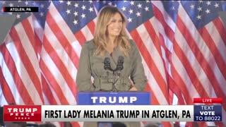 Melania Trump on beating the covid pandemic.