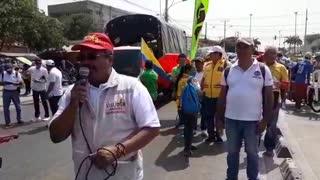 Así avanza la marcha de maestros en Cartagena