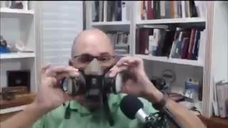 Doctor shows why masks don't work.