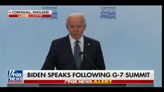 AWFUL. Joe Biden Attacks President Trump During G7 Speech