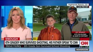 CNN interview of child school shooting survivor