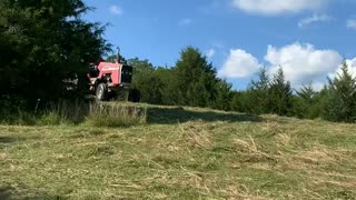 Disc Mowing Hay with the Massey Ferguson 1085