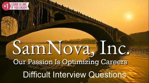Optimize Your Career | Difficult Interview Questions