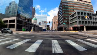 Riding Harley Road Glide Special Through Downtown St. Louis