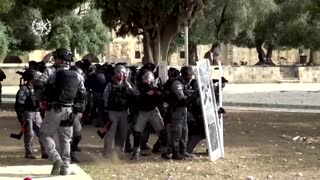 Israeli police video shows al-Aqsa violence