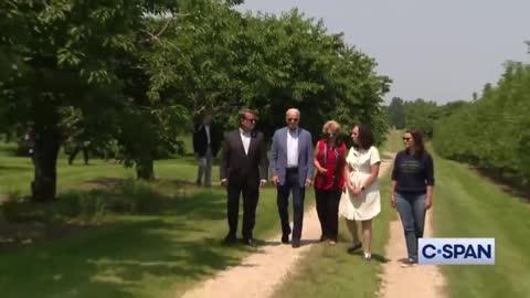 President Joe Biden Ends Conversation Abruptly