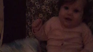 Baby gut laughing