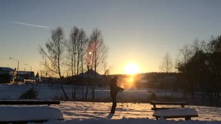 Beautiful Russian Example of the Mpemba Effect