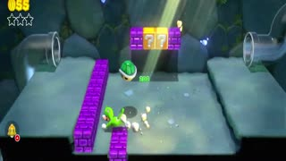 Super Mario 3D World - World 1-2: Koopa Troopa Cave (First Time Gameplay)