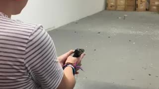 First time shooting a pistal