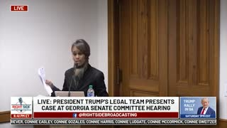 Witness #16 Speaks at GA Senate Committee Hearing on Allegations of Election Fraud. 12/03/20.