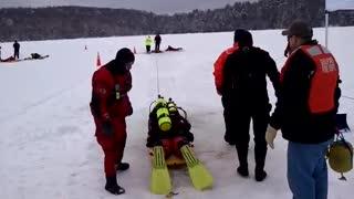 Ice Dive Rescue Training