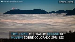 Time-lapse mostra oceano de nuvens sobre Colorado Springs