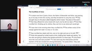 Luke John Bible Study: Mark 15, Part 3, The crucixion