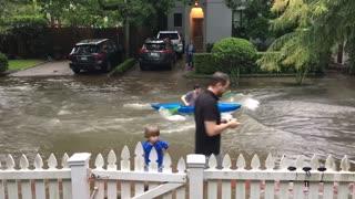 Street Flooding Calls for Kayaking