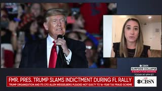 Former President Trump slams indictment during rally
