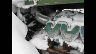 tractor HTZ T-150KM Scania V8 Start