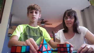 3 different #RubiksCubes in 1 minute 4 seconds! (Puerto Rico)