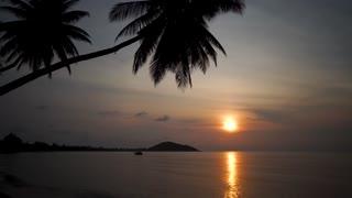 Sunset - view of a golden sunset