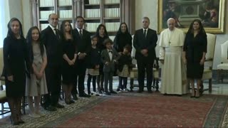 El papa recibe al presidente Duque en el Vaticano