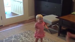 Adorable Babies First Steps