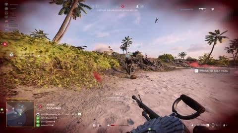 Battlefield 5 Clearing Wake Island of Enemies