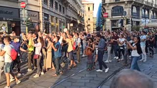 MILANO ,MANIFESTAZIONE NO GREEN PASS !!!!