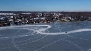 Motorcycle Ice Racing on Gun Lake
