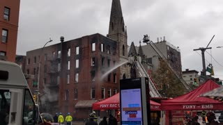 East Village Building and 19th Century Church Fire - 2nd Ave