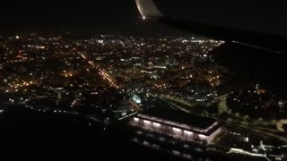 Landing Washington DC at night