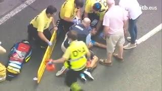 """Colombiano Egan Bernal sufrió un """"trauma facial grave"""" tras fuerte caída"""
