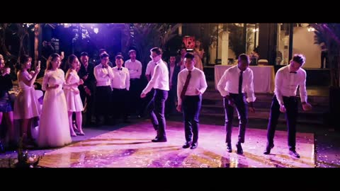 Bridesmaids And Groomsmen Deliver Funny Dance Routine