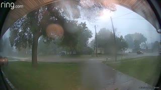 Huge Storm Splits Tree in Two