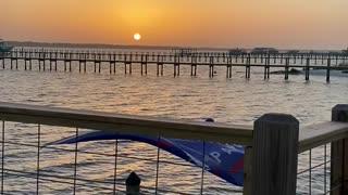 Trump Flag in Florida Sunset