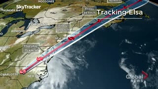 Tropical Storm Elsa on the move towards Atlantic Canada
