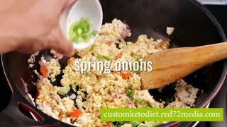 Easy Keto Diet Recipe Curried Tofu Scramble
