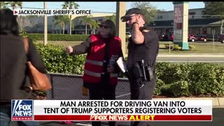 Florida man arrested for driving van into GOP tent
