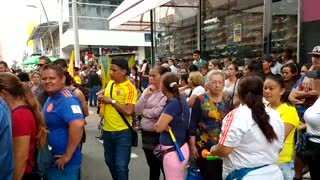 Vendedores ambulantes protestan en el centro de Bucaramanga