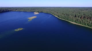 flight over the lake near forest 2