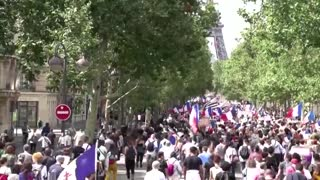Thousands protest against Macron's health pass....!!!!