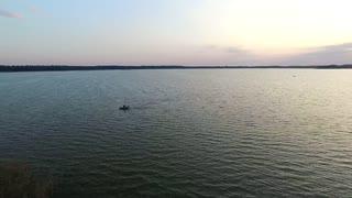 flight over the lake sundown boat 1