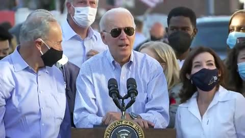 Biden Gives Awkward Shout out to 7 Year Old Boy Carrying an American Flag