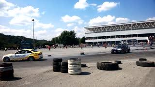 cars draving racing