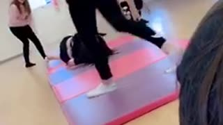 Girls Trying a Body Lift Ends with a Smack