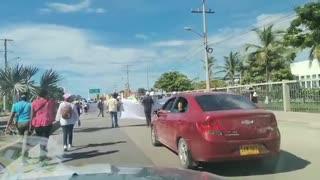 Protesta en Bocagrande