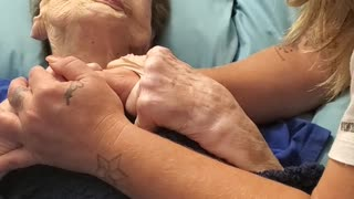 102 Year Old Grandma Has Heartfelt Moment Before Bed