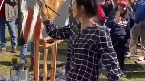 Trump Painter at the Million MAGA March | The Washington Pundit
